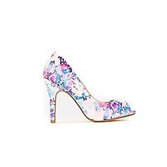 Wallis - Pale pink peep toe court shoes