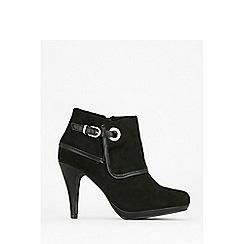 Wallis - Black platform ankle boots