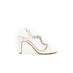 Wallis - Pale pink pearl trim sandals
