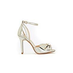 Wallis - Gold pearl trim detail heel sandals