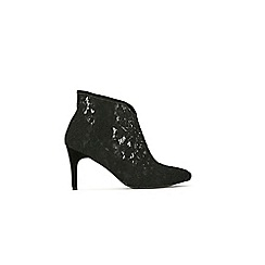 Wallis - Black lace pointed ankle boot