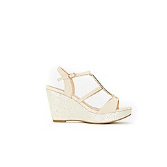 Wallis - Cream wedge sandals
