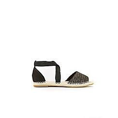 Wallis - Black elastic strap espadrilles
