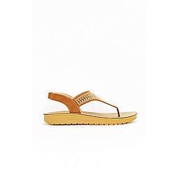 Wallis - Tan embellished flat sandals