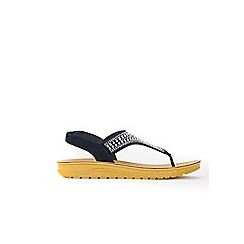 Wallis - Navy embellished flat sandals