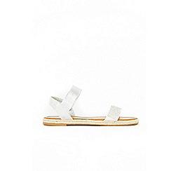 Wallis - White diamante espadrille sandals