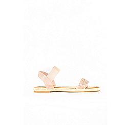 Wallis - Pale pink diamante espadrille sandals