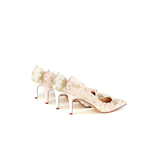 mesh court pink floral Wallis shoes pointed Pale qxtXWwvF