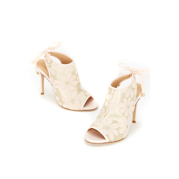 pink covered sandals Wallis Pale lace up floral OSfqxU