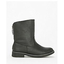 Wallis - Black back zip ankle boots