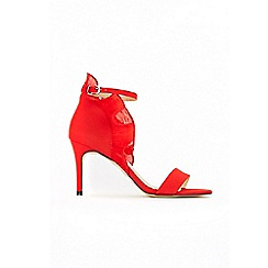 Wallis - Red ruffle back sandals