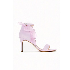 Wallis - Lilac ruffle back sandals