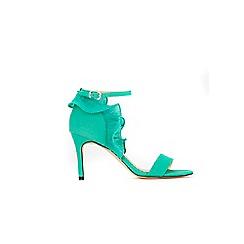 Wallis - Green ruffle back sandals