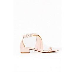 Wallis - Pale pink cross strap sandals
