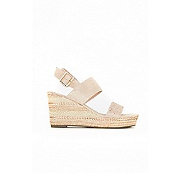 Wallis - Pink rope trim embellished wedge sandals