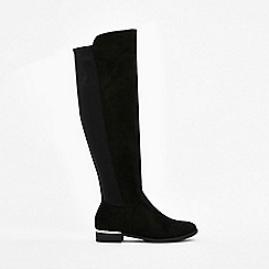 Wallis - Black pearl detail high leg boots