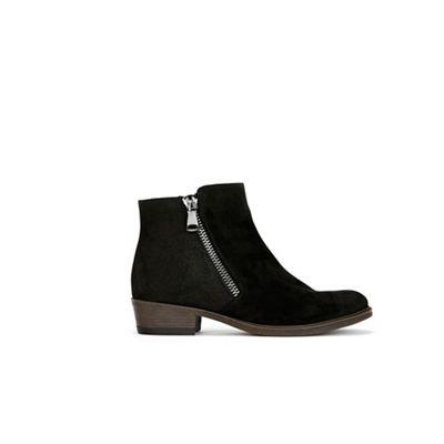 Wallis   Black Mix Material Side Zip Boots by Wallis
