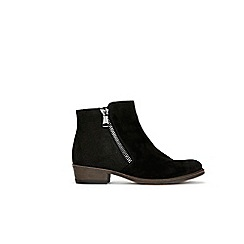 Wallis - Black mix material side zip boots