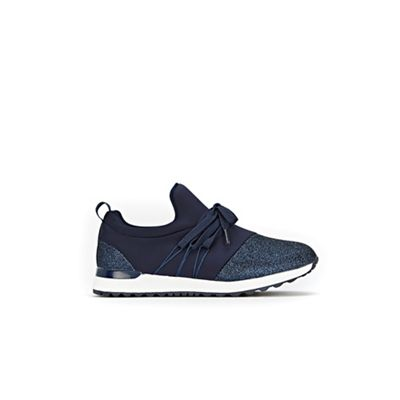 Wallis - Navy detailed trainers Fashionable and eye-catching shoes