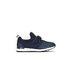 Wallis - Navy detailed trainers