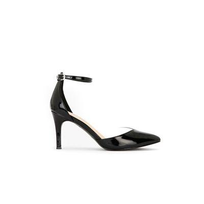 Wallis - Black Perspex insert low heel court