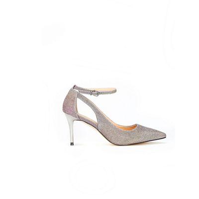 Wallis - Gold cut out ankle strap court shoes