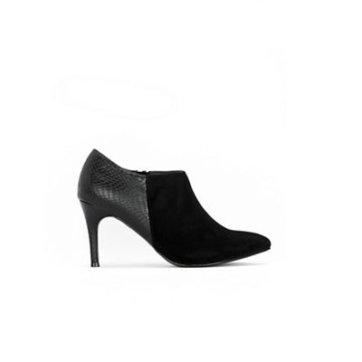 Wallis - Black mix material pointed shoe boots