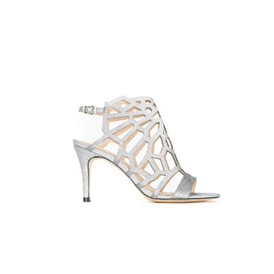Wallis - Pewter cut out detail sandals