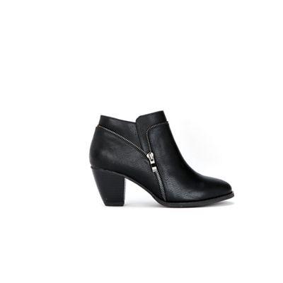 Wallis Black - Black Wallis open zip ankle boots 04388f