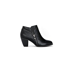 Wallis - Black open zip ankle boots