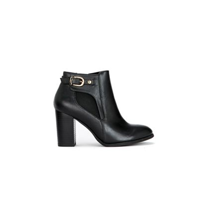 Wallis   Black Buckle Boots by Wallis