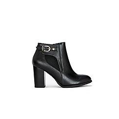 Wallis - Black buckle boots