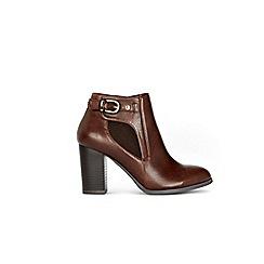 Wallis - Brown buckle boots