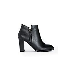 Wallis - Black zip detail heel boots