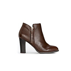 Wallis - Brown zip detail heel boots
