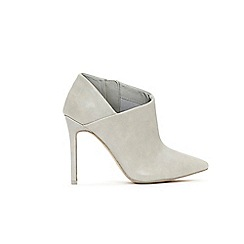 Wallis - Grey high heel pointed shoes boots