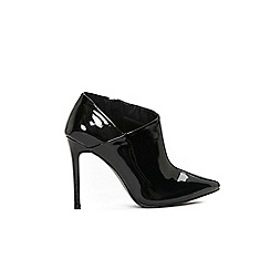 Wallis - Black high heel pointed shoes boots