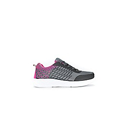 Wallis - Grey sport outsole lace up trainers
