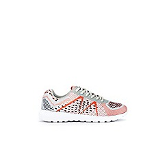 Wallis - Grey multi coloured knit trainers