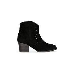 Wallis - Black cowboy stud ankle boots