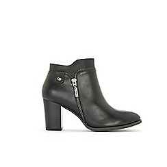Wallis - Black side zip ankle boots
