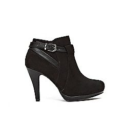 Wallis - Black platform buckle boots