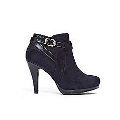 Wallis - Navy platform buckle boots
