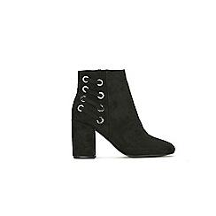 Wallis - Black eyelet detail ankle boot