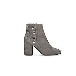 Wallis - Grey eyelet detail ankle boot