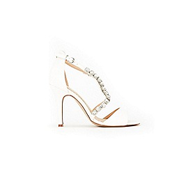 Wallis - White high heel trim sandals