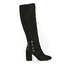 Wallis - Black high leg heeled boots