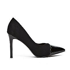 Wallis - Black toe cap pointed court shoes