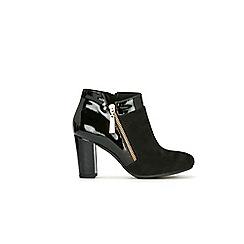 Wallis - Black asymetric side zip boot