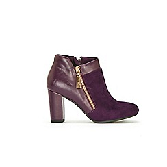 Wallis - Berry asymetric side zip boot